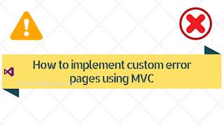 MVC custom error page