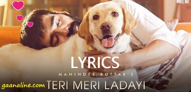 तेरी मेरी लड़ाई | Teri Meri Ladai hindi lyrics- Maninder Buttar.