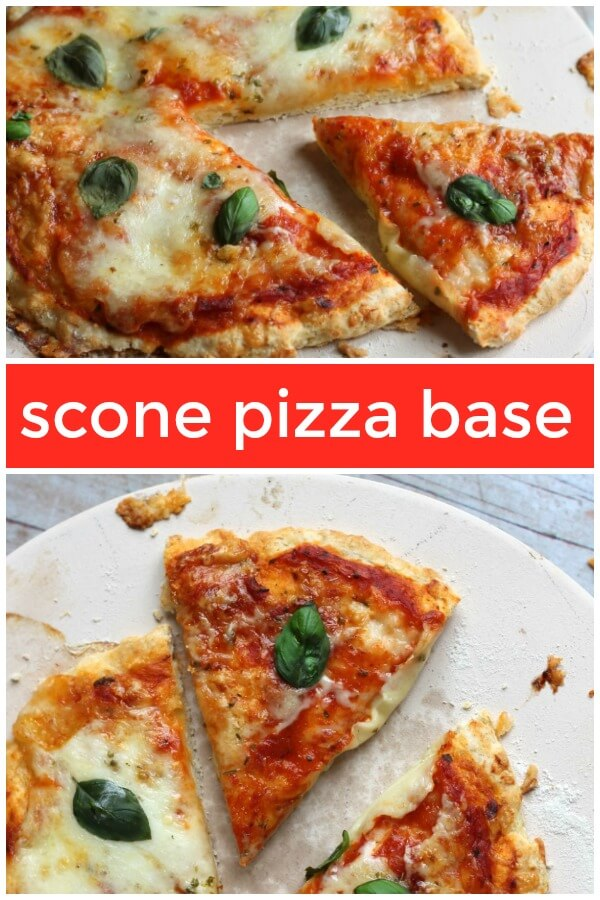 Scone pizza with tomato and mozzarella #sconepizza #noyeastpizza #pizza