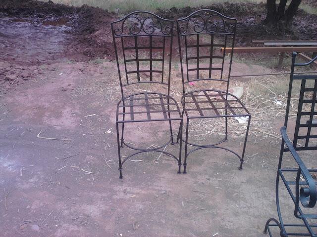 chaise en fer forgé