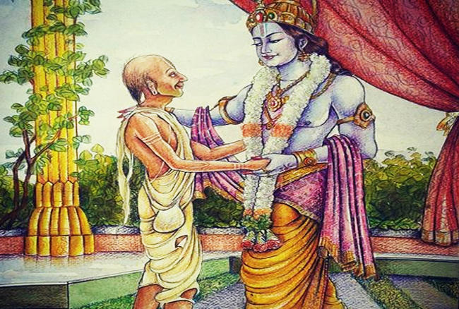 God Krishna Picture with Friend Sudama