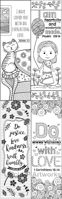 coloring bookmarks for kids