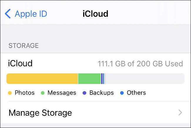 إدارة التخزين على iCloud