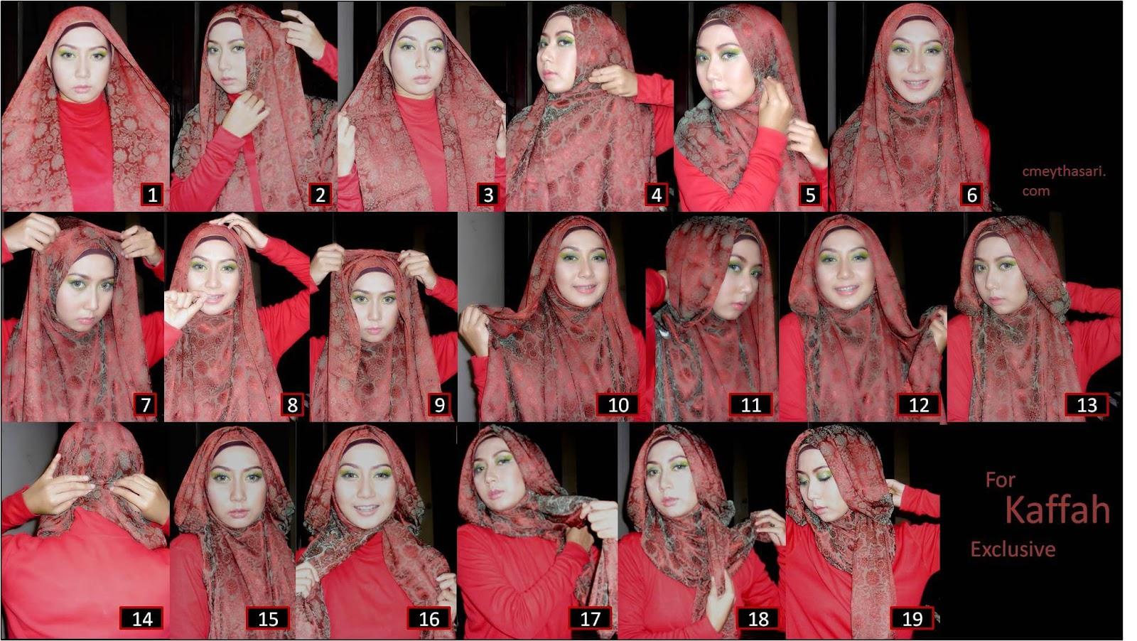 20 Tutorial Hijab Monochrome Satin Sifon Ima Rawis Terbaru