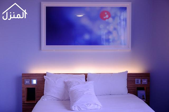 صور ديكور اضاءة غرفة النوم