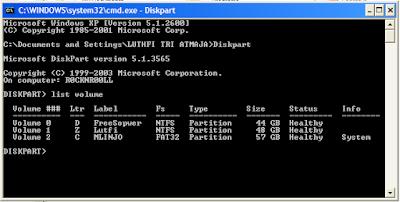 Sembunyikan Hardisk Komputer Kamu Dengan CMD