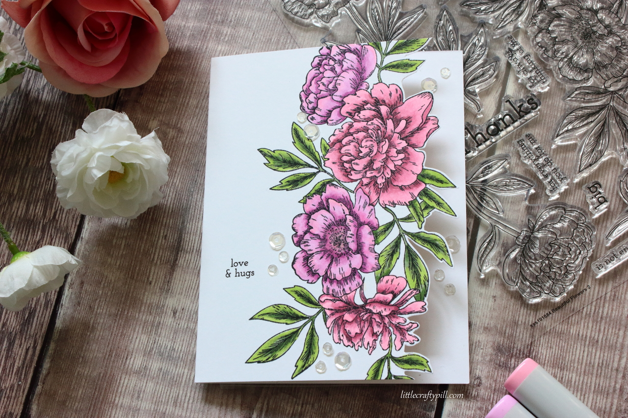 Little crafty pill flower edge card stamptember 2018 party floweredgecardg izmirmasajfo