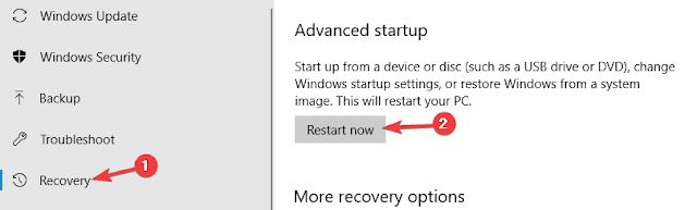 حل مشكلة الشاشة الزرقاء واعاده تشغيل الكمبيوتر