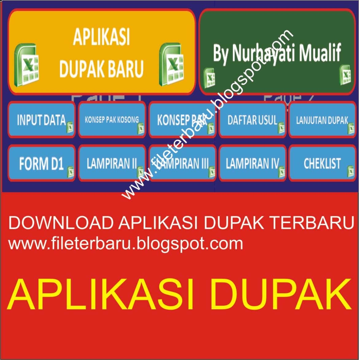 Download Aplikasi Dupak Terbaru 2016 Format Excel Gratis