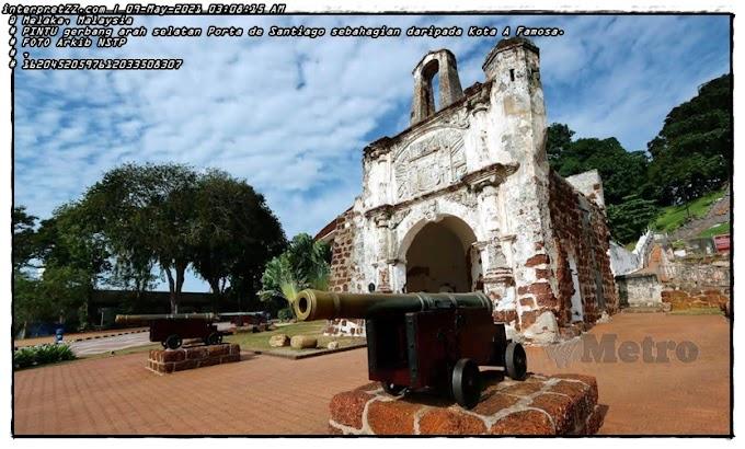 Masjid Agong bukan di bawah Porta De Santiago
