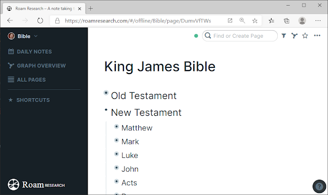 Bible ToC