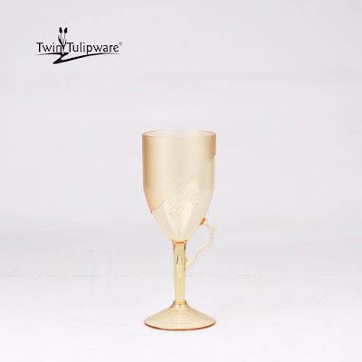 Crystal Glass Twin Tulipware