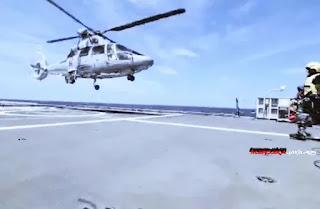 Kerahkan Heli dan  KRI I Gusti Ngurah Rai GNR-332 Deteksi Kapal Selam Asing