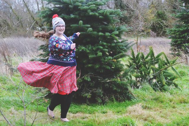 Plus size Christmas outfit