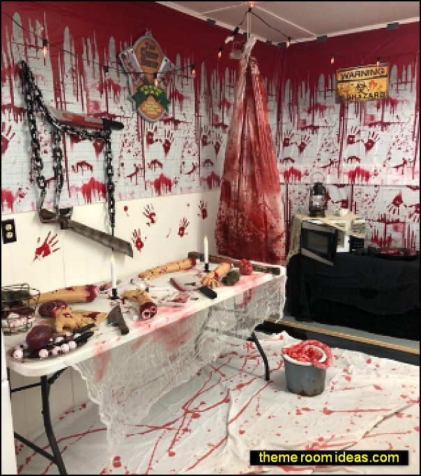 halloween themed decorating ideas butcher themed halloween decorations halloween props
