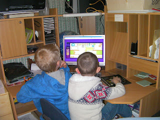 boys playing computer games