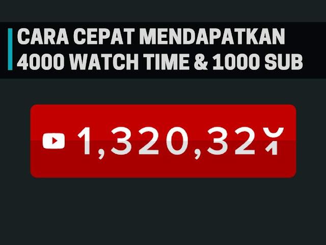 Youtube sedikit waktu yang lalu baru saja memberikan peraturan baru seputar program mit Tutorial Cepat Mendapat 4000 Jam Penayangan & 10+00 Subscriber