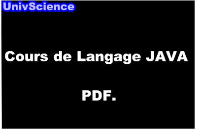 Cours de Langage JAVA PDF.
