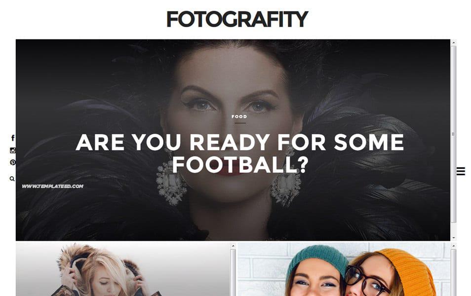 Responsive Photography Blogger Templates