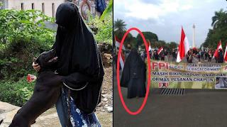 Tercyduk... Demo Anti-FPl Wanita Bercadar, Ternyata....