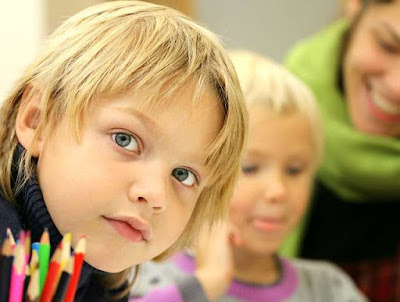 çocuk, okul, öğretmen, ders