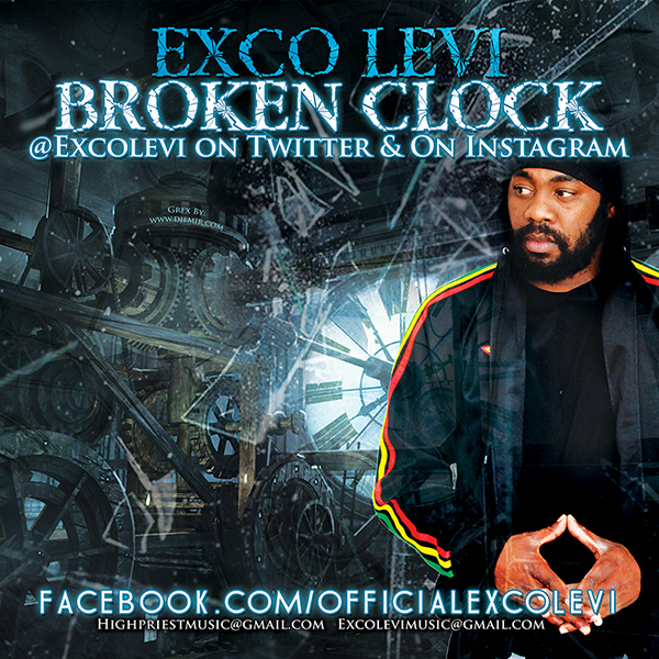Exco Levi Broken Clock Album Single Cover Design Back