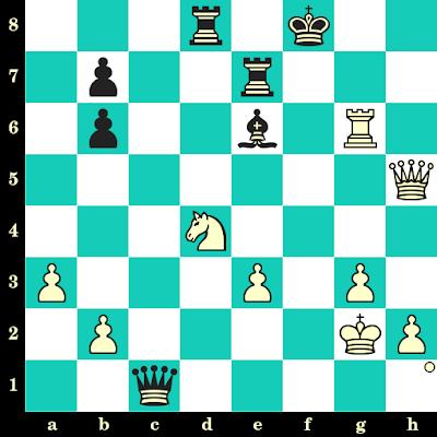 Les Blancs jouent et matent en 2 coups - Magnus Carlsen vs Viswanathan Anand, Stavanger, 2019