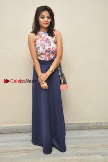 Kannada Actress Mahi Rajput Pos in Floral Printed Blouse at Premam Short Film Preview Press Meet  0023.jpg