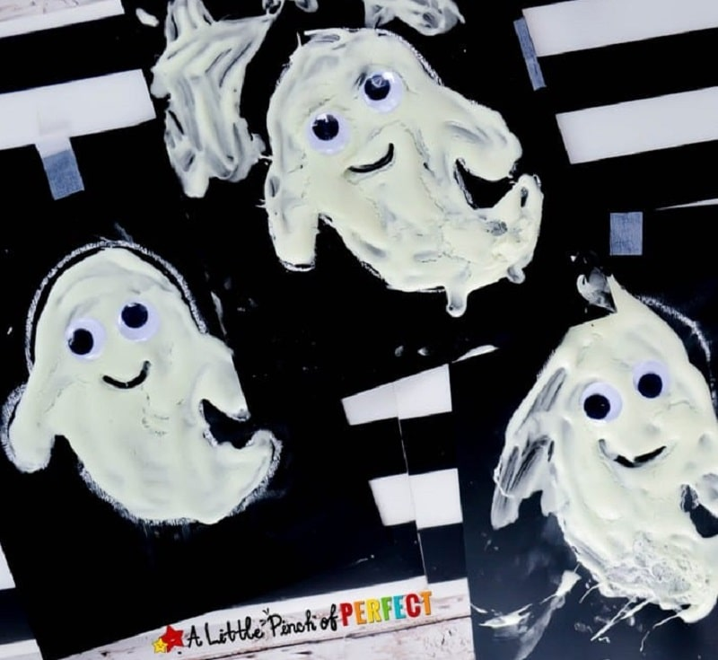 glow in the dark puffy paint ghosts