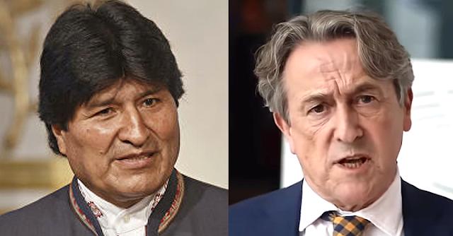 Evo Morales y Hermann Tertsch