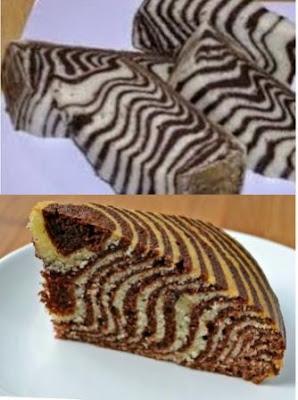 Cake Zebra Bintik Cokelat Rasanya Unik