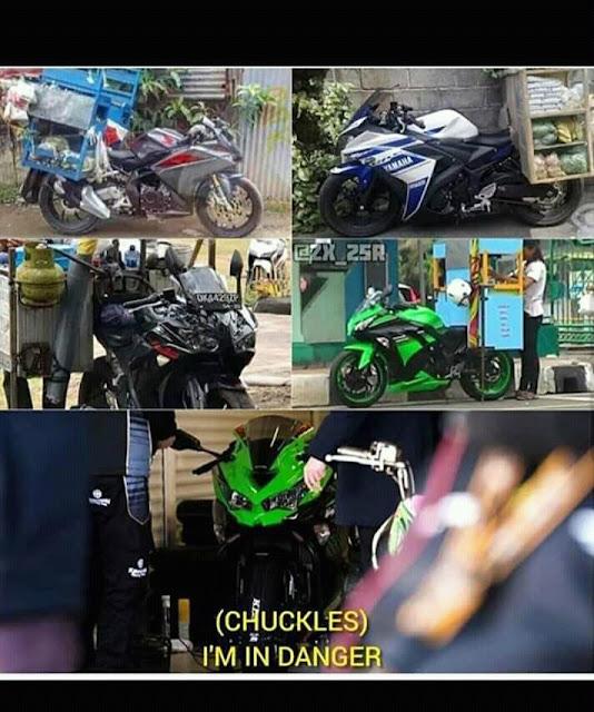 [MEME MOTOR] Ketika Motor-Motor 250 cc Berfairing Digunakan Untuk Dagang Keliling