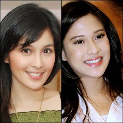 Sandra Dewi dan Dian Sastro