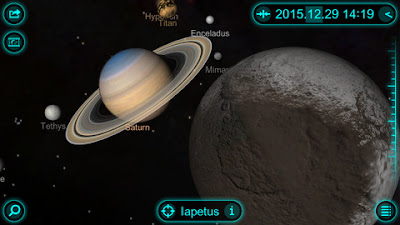 Solar Walk App - Saturn and its Moons