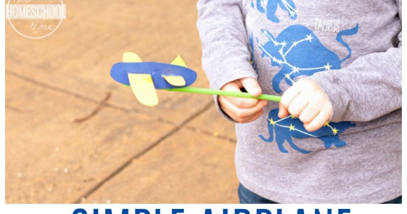 simple airplane puppet craft