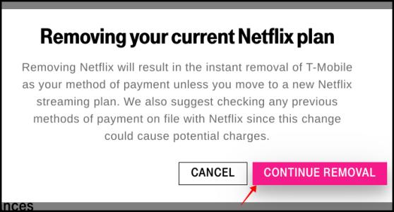 إلغاء T-Mobile Netflix