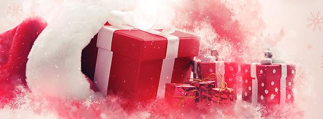 Ảnh bìa hộp quà giáng sinh đẹp