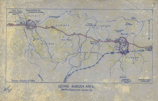 Map of the Battle of Gemas