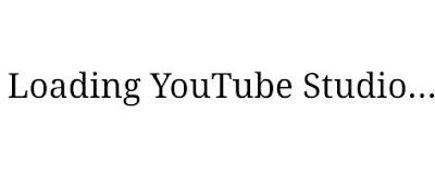 Loading YouTube Studio
