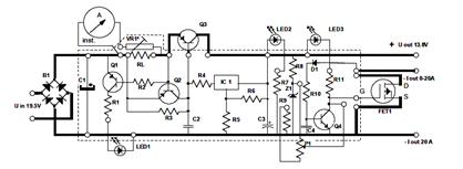 DC Power Supply Circuit for Ham Radio
