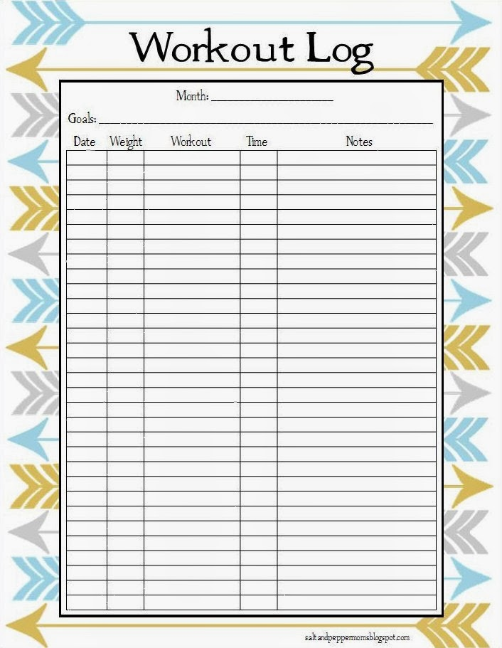 Printable Workout Log | Search Results | Calendar 2015