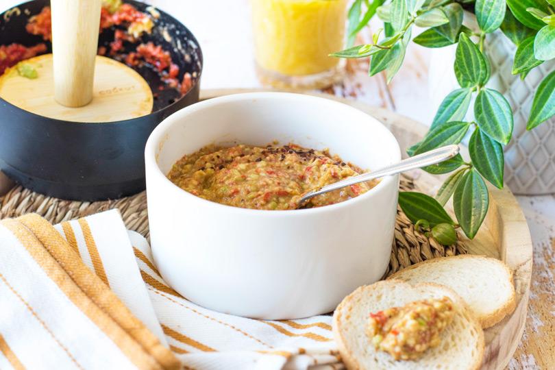 recette Guacamole au poivron