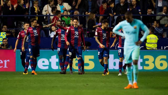 Video Cuplikan Gol Barcelona 4-5 Levante | Liga Spanyol Pekan 37