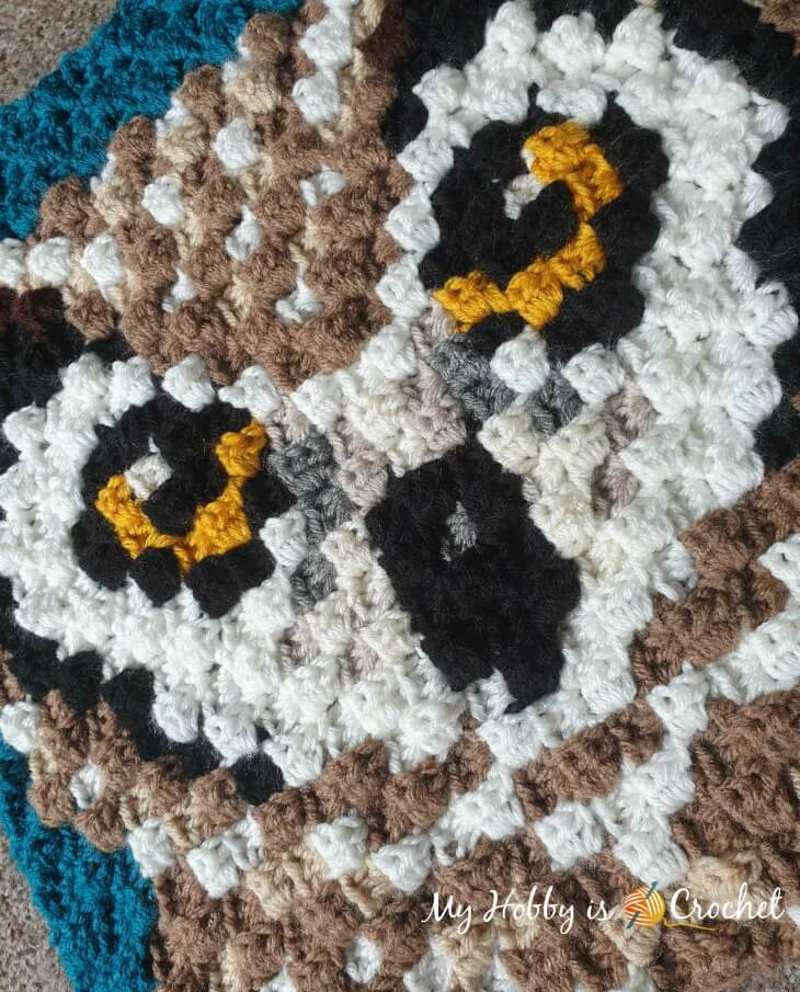 Horned Owl C2C Square