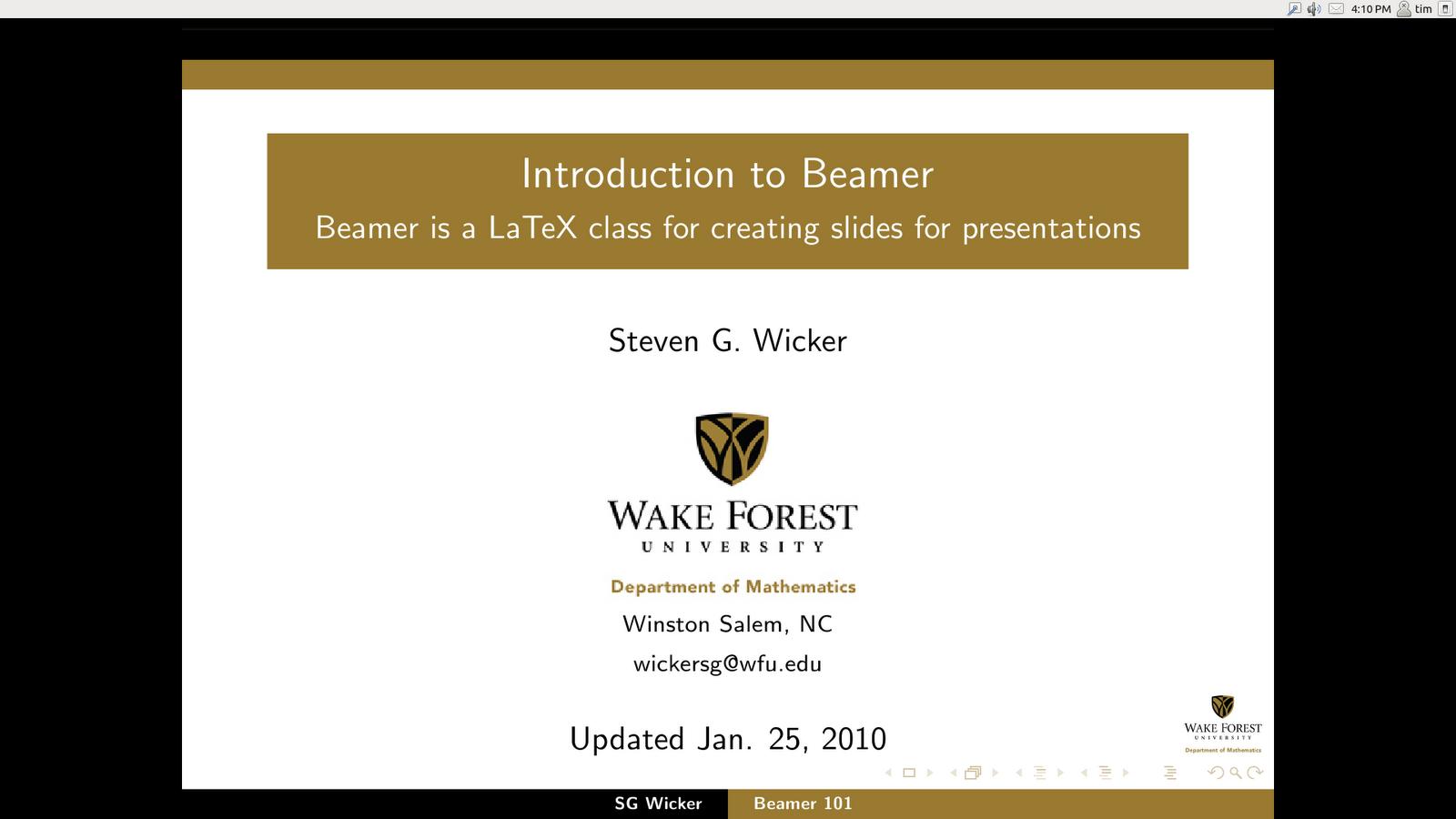 Introducción a Beamer