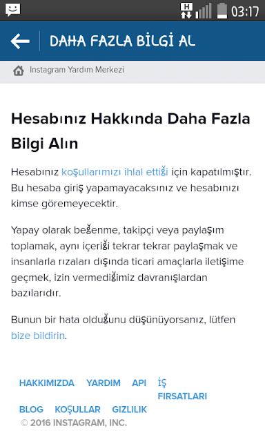 instagram kapatıldı