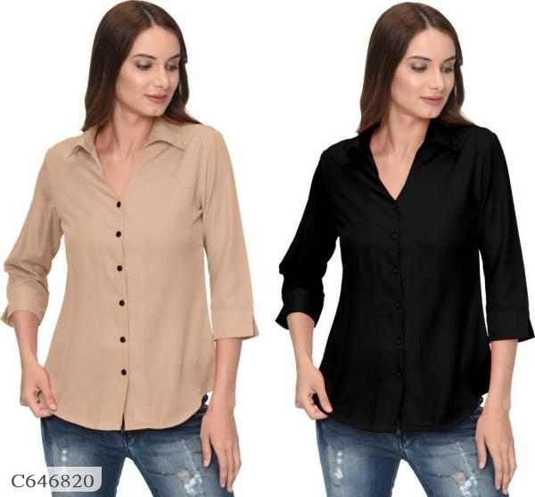 Womens Formal Solid Poly Crepe Shirts Buy 1 Get 1 Free Online Shopping in India   Pack of 2 Formal Shirts For Women Online Shopping   Combo of 2 Womens Shirts Online Shopping in India   Womens Shirts Online Shopping in India   Shirts For Women Online Shopping   Shirts Online Shopping   Formal Shirts For Women Online Shopping   Online Shopping in India   Best Shopping Website India  