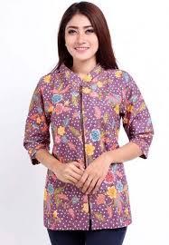 Contoh Baju Batik Kantor Wanita Modern Terbaru
