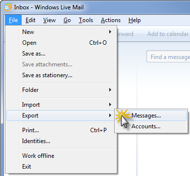 Convert Windows Live Mail into Microsoft Outlook