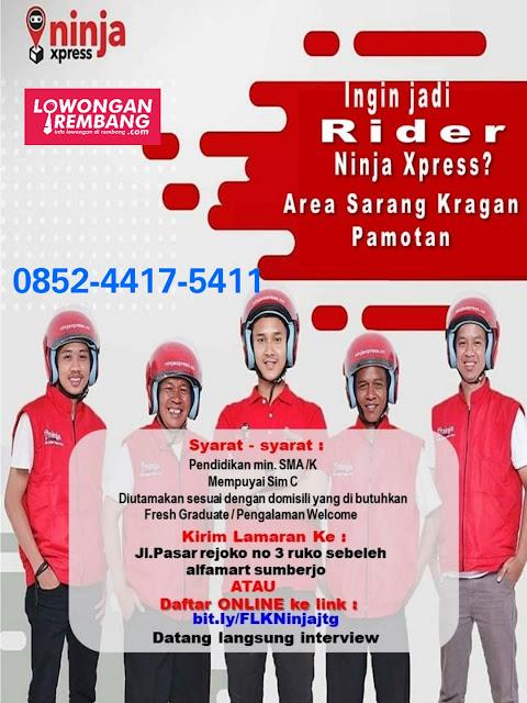Lowongan Kerja Rider Ninja Xpress Area Kragan, Sarang, Pamotan Rembang